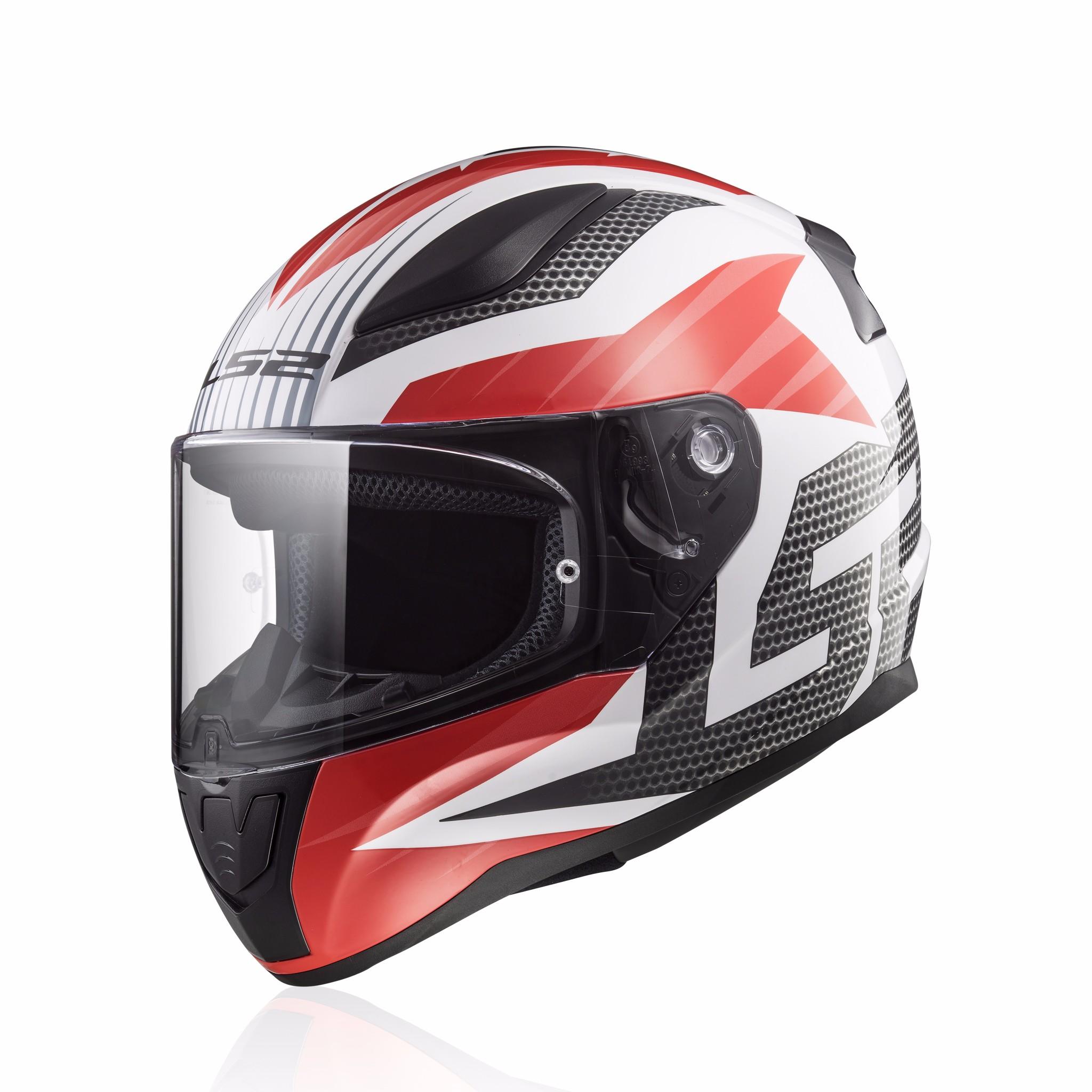 Mũ bảo hiểm fullface LS2 Rapid FF353 trắng đỏ