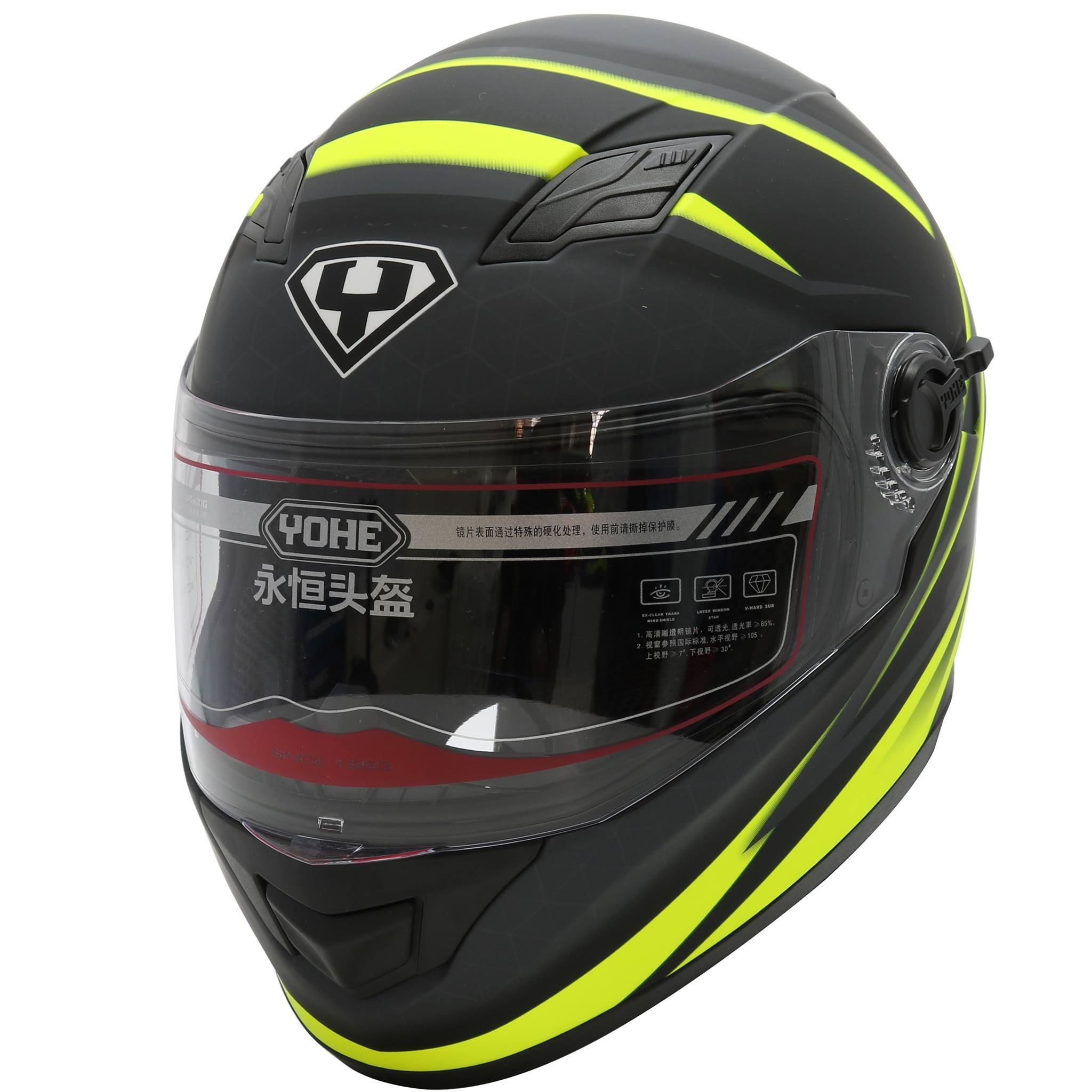 Nón bảo hiểm fullface Yohe 970 đen xanh dạ quang