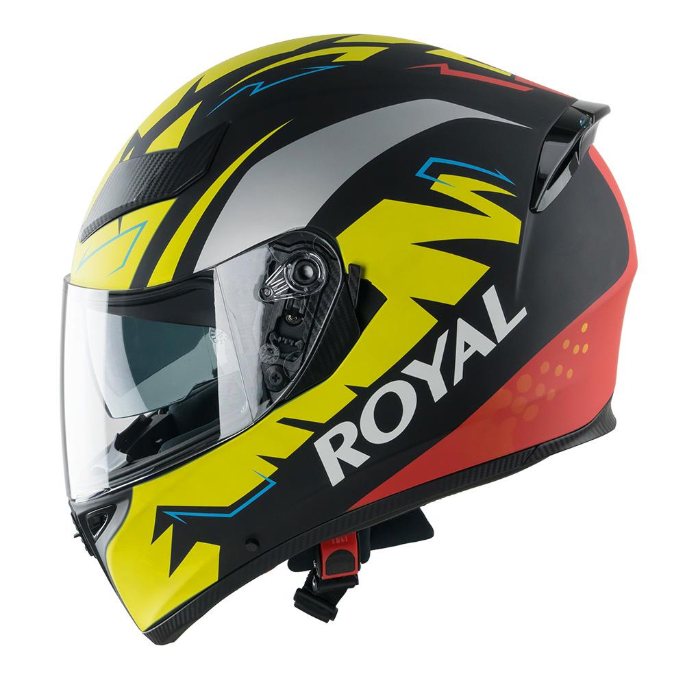 Mũ bảo hiểm fullface Royal M138 2 kính có đèn led (tem vàng)