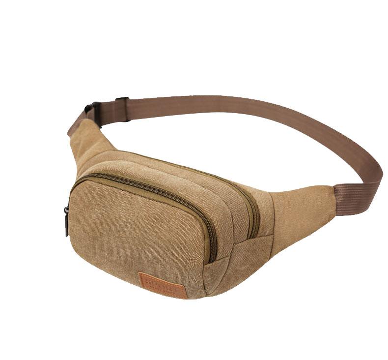 Túi bao tử, túi đeo bụng 03 (màu nâu)