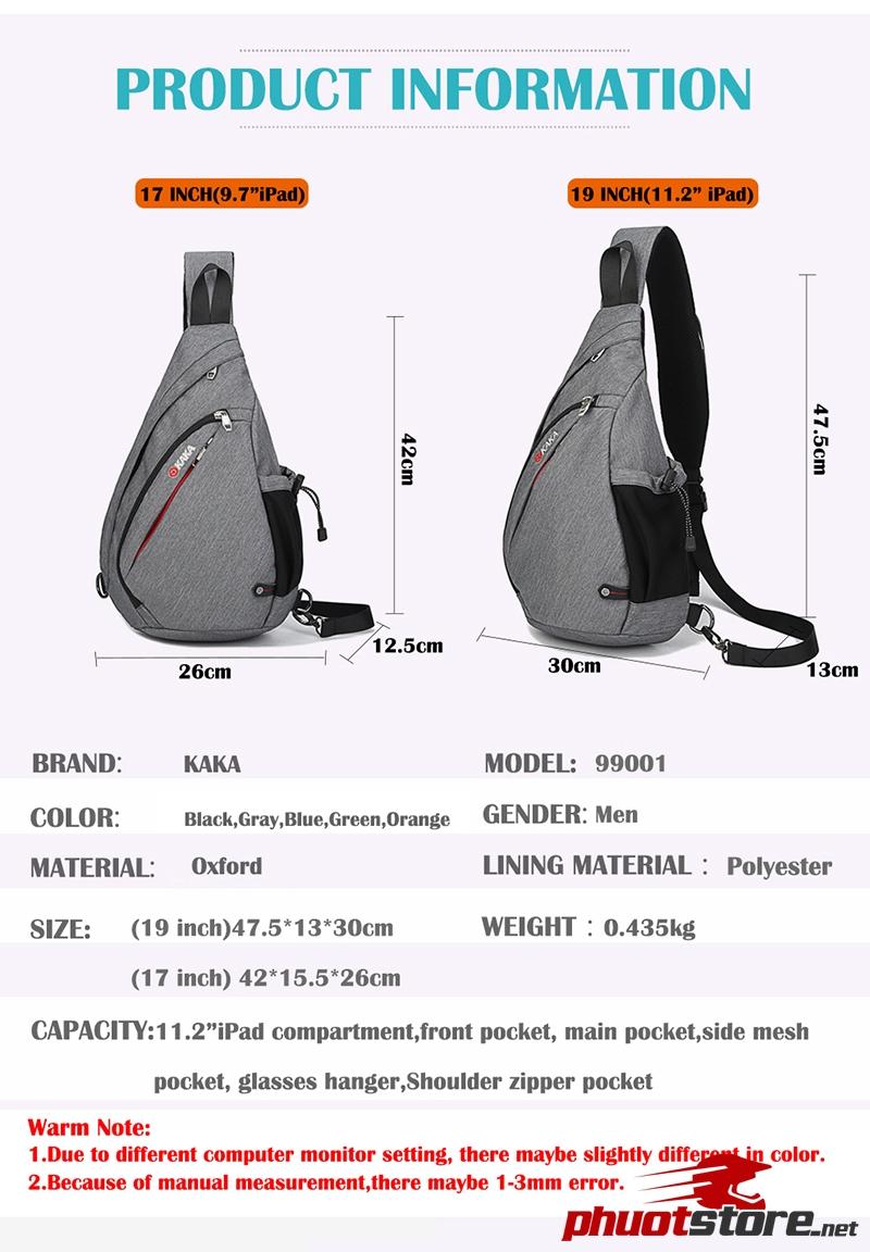 Túi đeo chéo KAKA chính hãng TC12