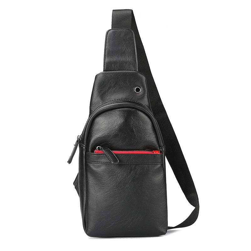 Túi đeo chéo da nam hàn quốc TC19 (màu đen trơn)