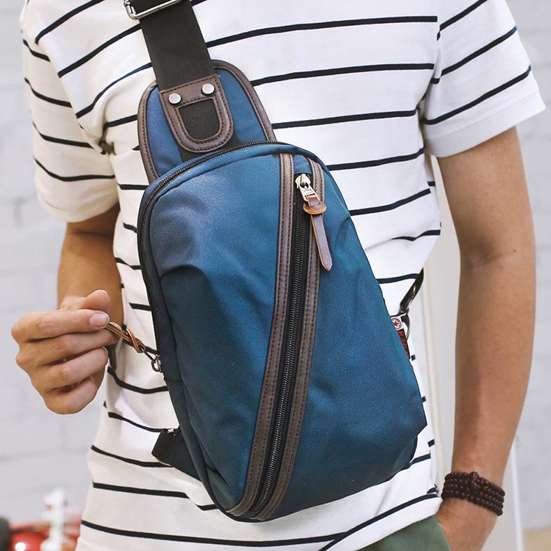 Túi đeo chéo thời trang nam nữ KAKA TC11 màu xanh dương