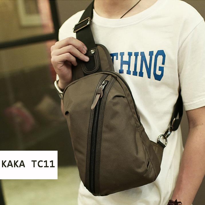 Túi đeo chéo thời trang nam nữ KAKA TC11 màu cafe