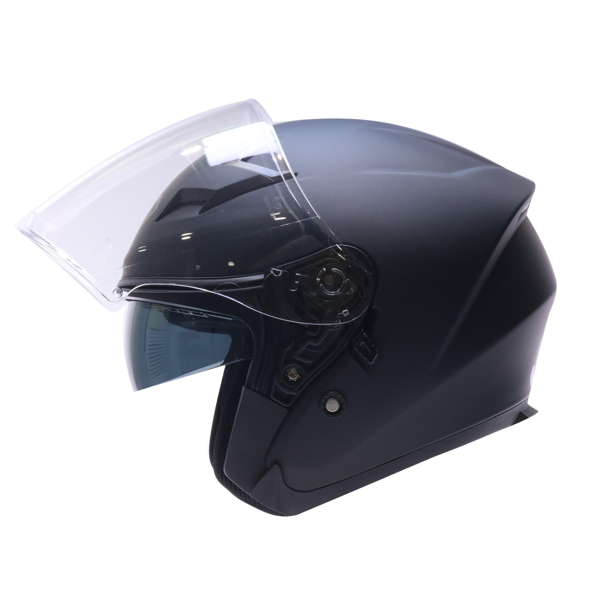 Mũ bảo hiểm 3/4 Yohe 878 2 kính đen nhám