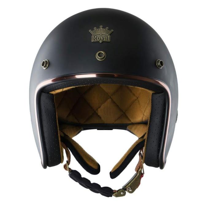 Mũ 3/4 Royal M20c cao cấp sang trọng (đen nhám)