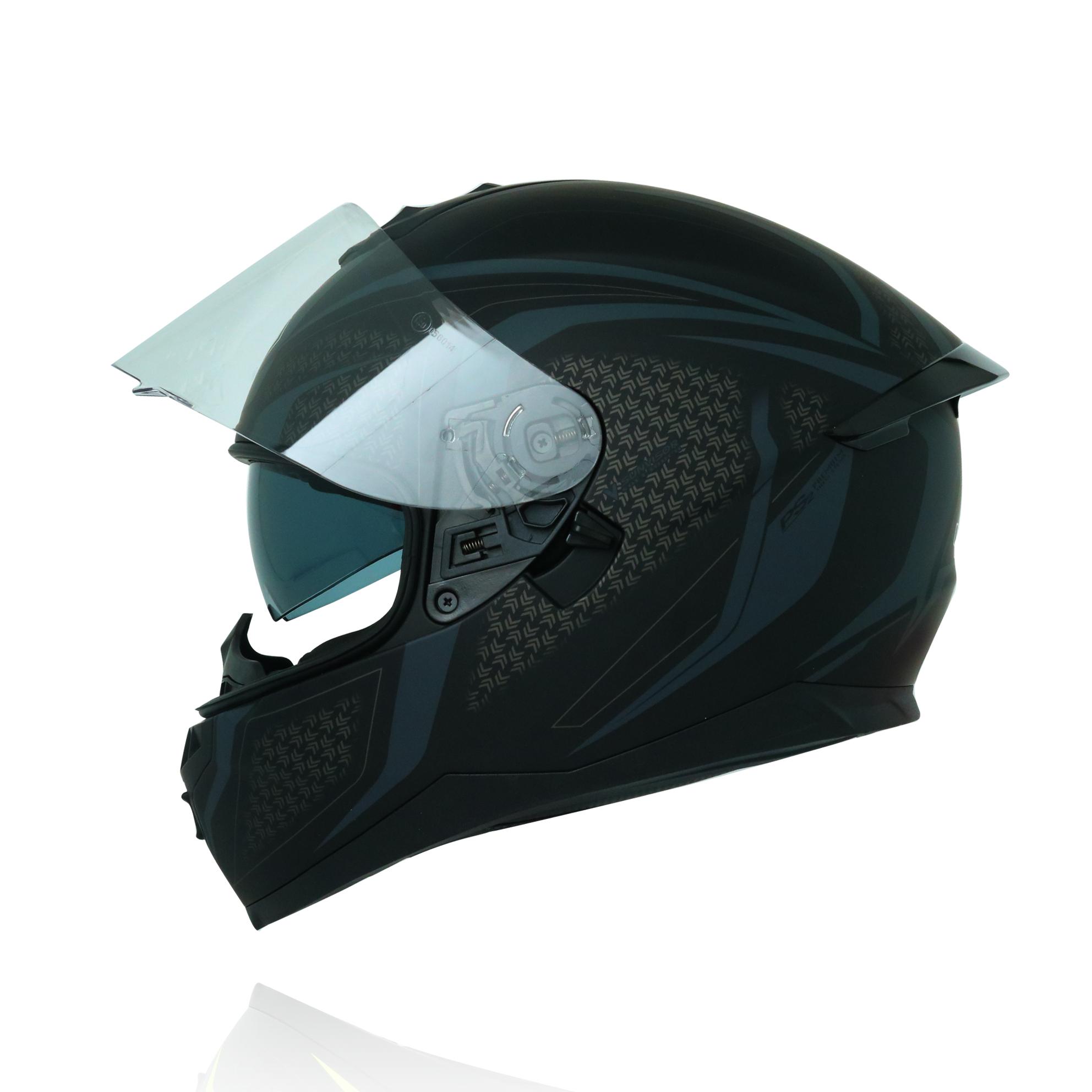 Mũ bảo hiểm fullface Yohe 967 2 kính tem đen xám