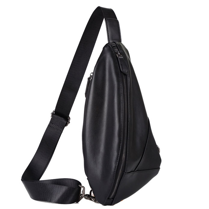 Túi đeo chéo da nam TC37 (màu đen)