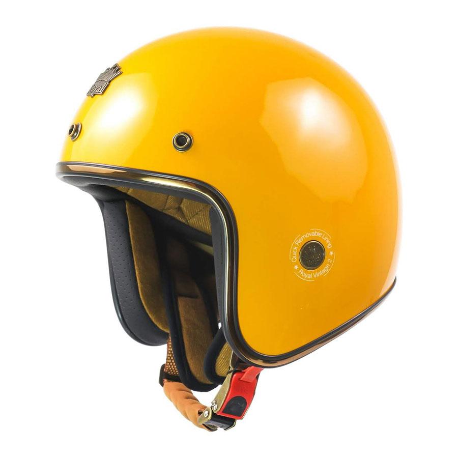 Mũ 3/4 Royal M20c cao cấp sang trọng (vàng bóng)