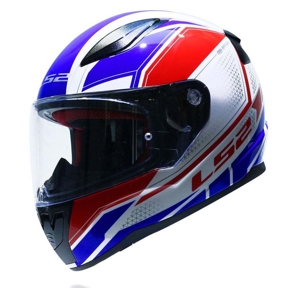 Mũ bảo hiểm fullface LS2 Rapid FF353 xanh đỏ trắng