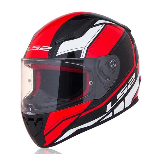 Mũ bảo hiểm fullface LS2 Rapid FF353 trắng đỏ đen