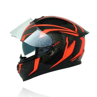 Mũ bảo hiểm fullface Yohe 967 2 kính tem đen đỏ v3