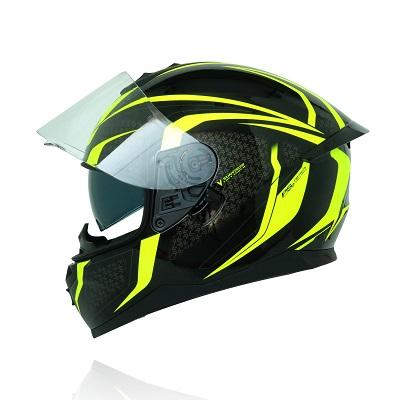Mũ bảo hiểm fullface Yohe 967 2 kính tem đen xanh v3