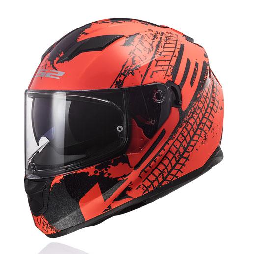 Mũ Fullface LS2 STREAM FF320 đen cam