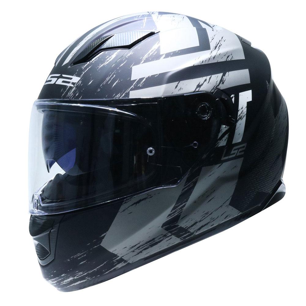 Mũ Fullface LS2 STREAM FF320 đen xám