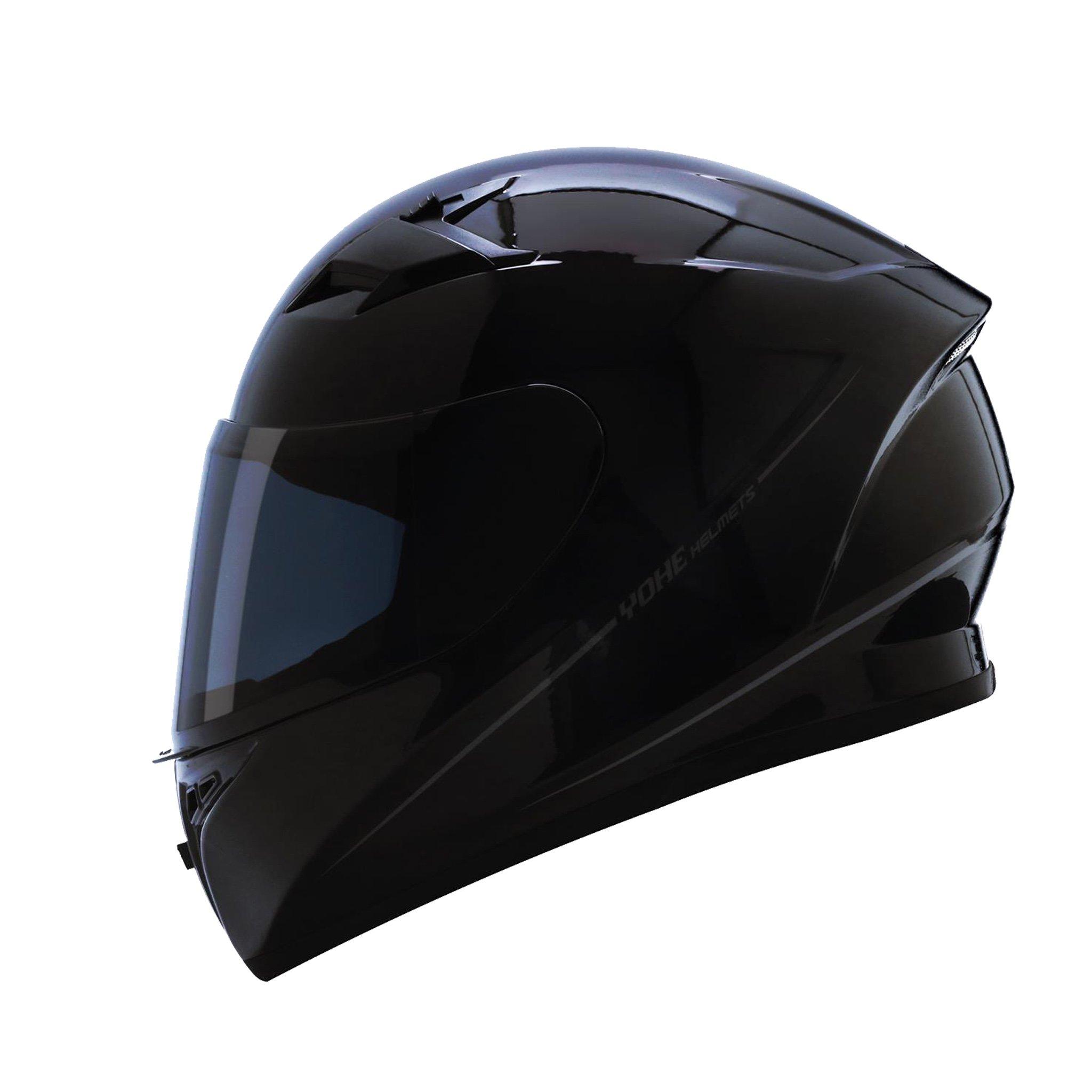 Mũ bảo hiểm fullface Yohe 978 Storm (đen bóng)