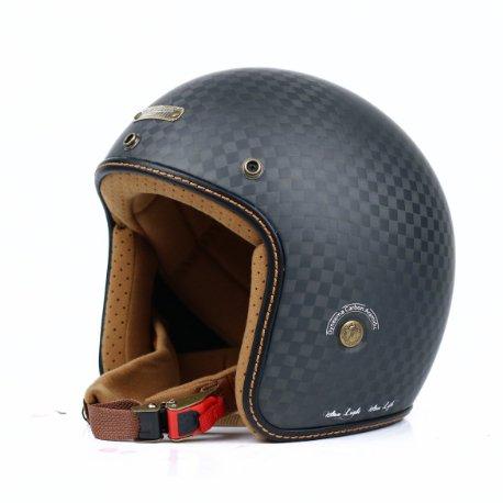 Mũ 3/4 Bulldog Heli Carbon Rubik