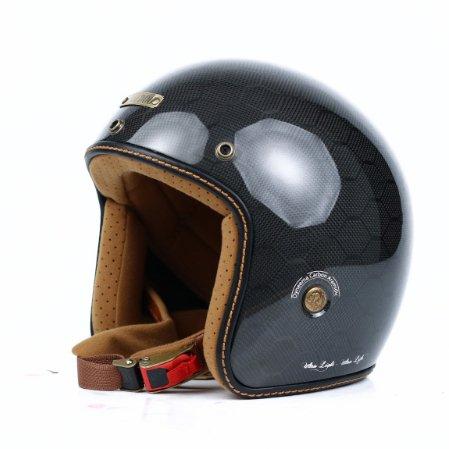 Mũ 3/4 Bulldog Heli Carbon Medusa