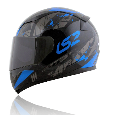 Mũ bảo hiểm fullface Ls2 Rapid FF353 Gloss Black Blue