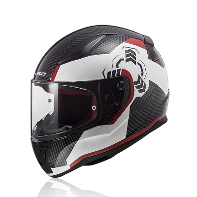 Mũ bảo hiểm fullface Ls2 Rapid FF353 Ghost White Black Red