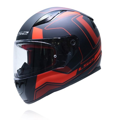 Mũ bảo hiểm fullface Ls2 Rapid FF353 Carera Matt Black Red