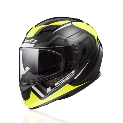 Mũ fullface Ls2 Stream FF320 Axis Matt Black Yellow