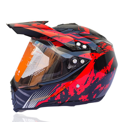 Mũ fullface dualsport WLT Red Dragon