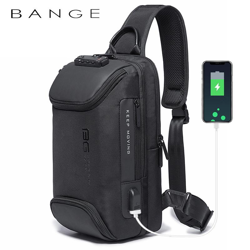 Túi đeo chéo chính hãng BANGE BG-7082 (Đen)
