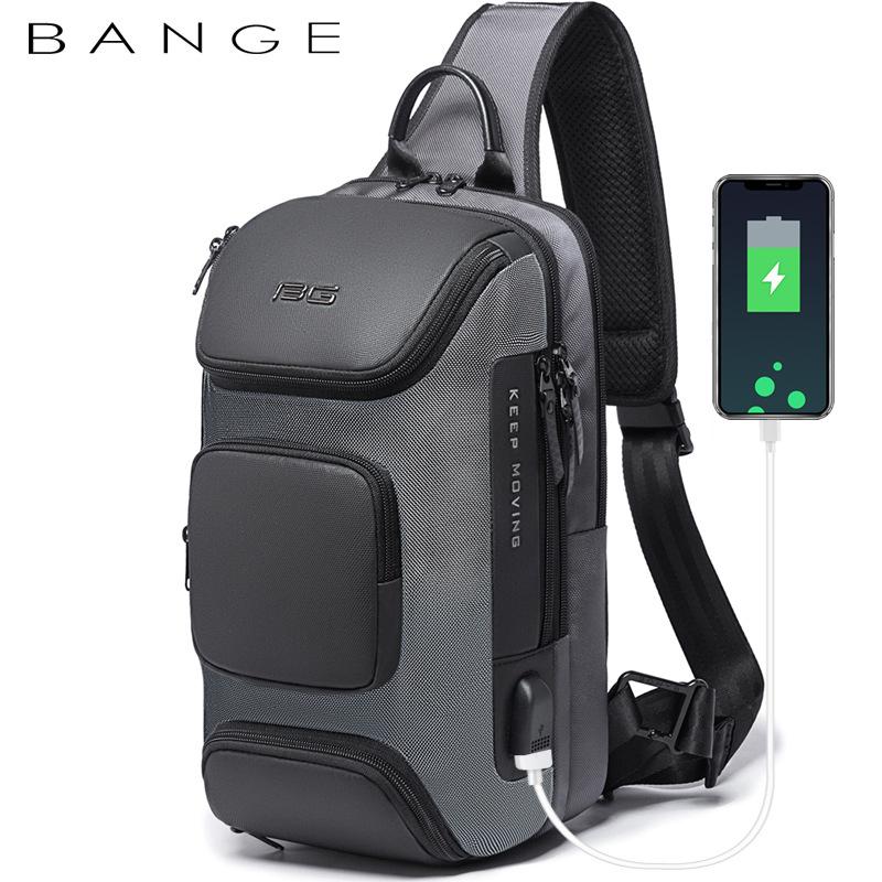 Túi đeo chéo chính hãng BANGE BG-7086 (Đen Xám)